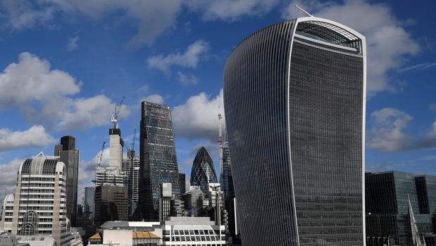 Vista general del distrito financiero de la City de Londres