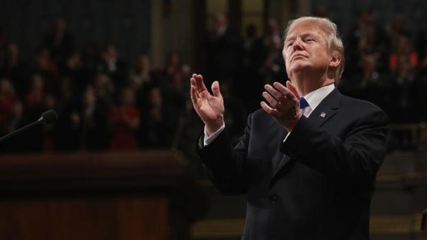 Donald Trump, durante su discurso del Estado de la Unión, este martes en el Congreso de EE.UU.