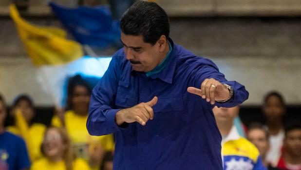 Nicolás Maduro, durante un acto político este miércoles en Caracas