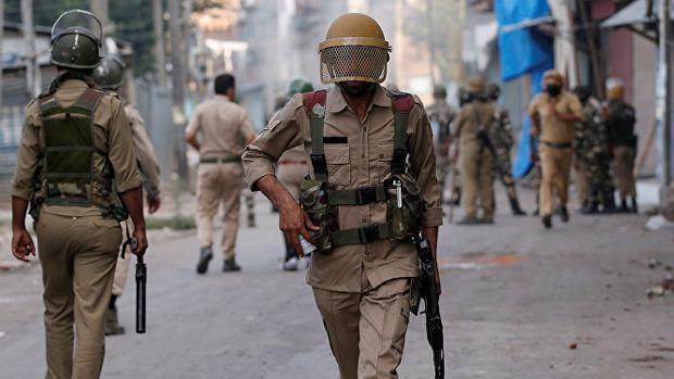Imagen de archivo de un agente de la policía india