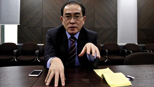 Thae Yong-ho, diplomático desertor de Corea del Norte, durante la entrevista