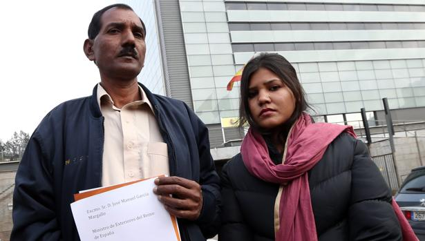 El marido y la hija de Asia Bibi, en una visita a Madrid