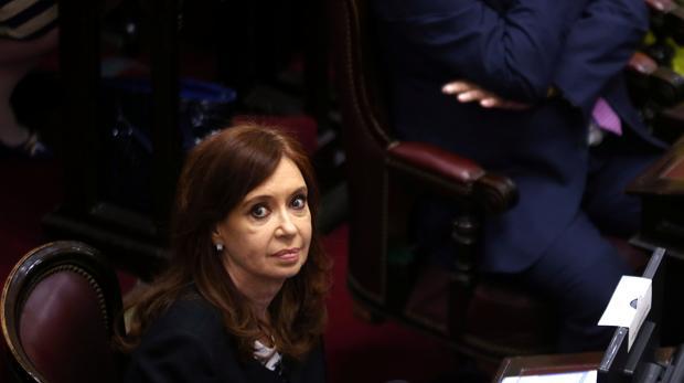 Cristina Fernández, en la jura de su cargo de senadora el pasado 29 de noviembre