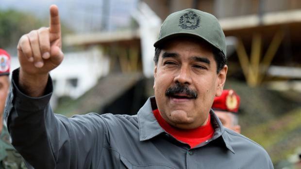 Nicolás Maduro, en un acto con militares en el mes de febrero