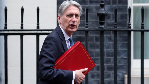 Philip Hammond, ministro de Economía británico, tras la sesión de control en la Cámara de los Comunes