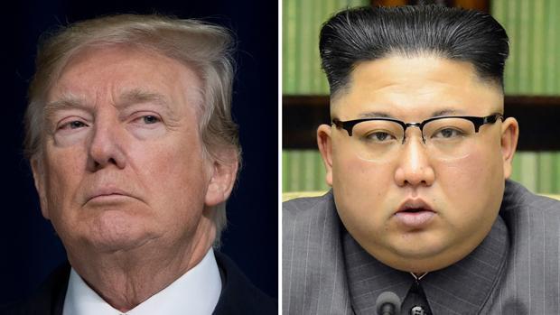 El presidente de Estados Unidos, Donald Trump, y el líder de Corea del Norte, Kim Jong-un