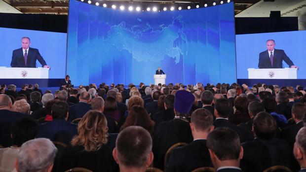 Valdimir Putin en su anuncio sobre armas nucleares