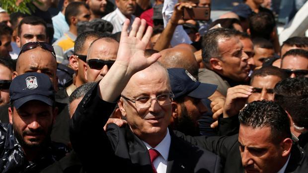 Rami Hamdala, a su llegada a la Franja de Gaza