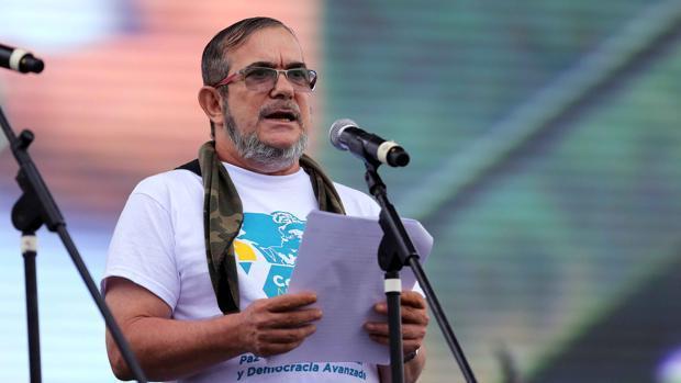 Rodrigo Londoño, alias Timochenko, en un acto público tras la firma de los Acuerdos de La Habana