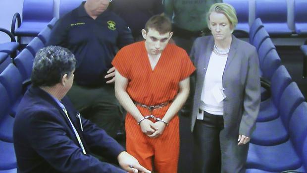 Nikolas Cruz, autor confeso de la matanza de Florida, en su primera comparecencia el pasado 15 de febrero
