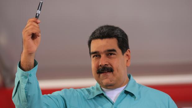 Nicolás Maduro, durante un encuentro con educadores simpatizantes del chavismo