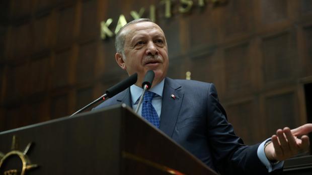 El presidente Erdogan, en una reunión de su partido en Ankara