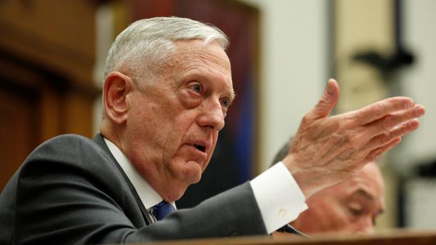 El secretrio de Defensa, Jim Mattis, durante su comparecencia Comité de Servicios Armados de la Cámara