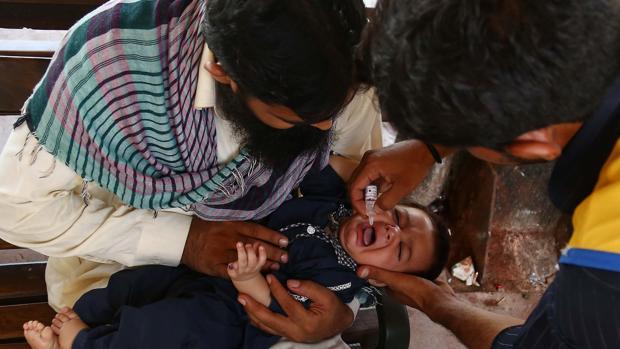 Foto de archivo de campaña de vacunación
