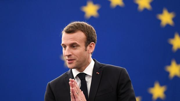 Enmanue Macron en el Pleno de la Eurocámara