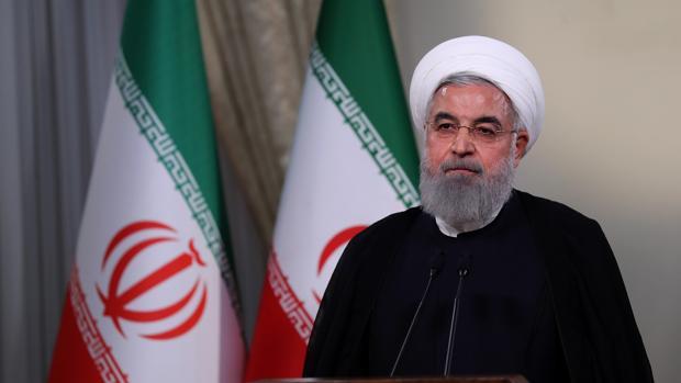 El presidente iraní, Hasan Rohaní, durante su intervención en la televisión pública de su país