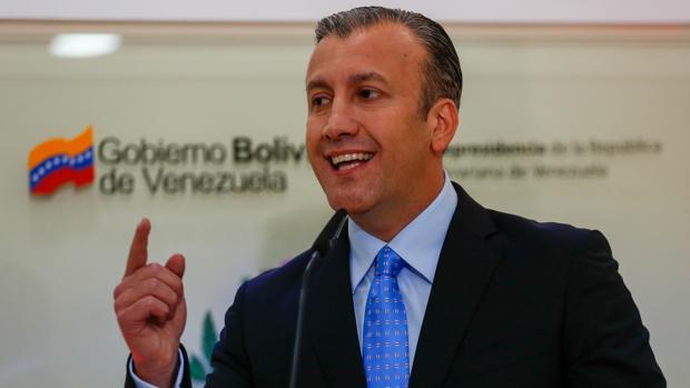 El vicepresidente de Venezuela, Tareck el Aissami, en una rueda de prensa el pasado 2 de mayo
