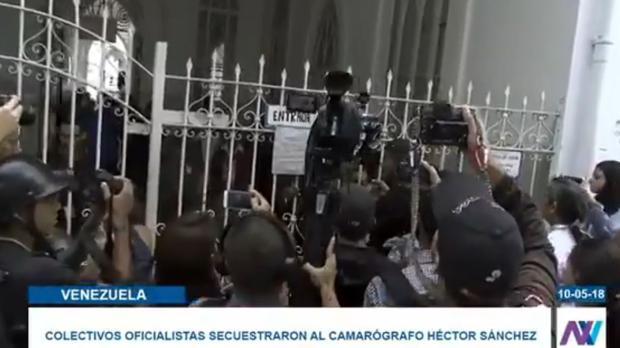 Entrada al hospital Vargas de Caracas, este jueves