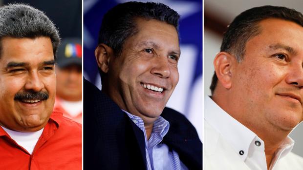Nicolás Maduro, Henri Falcón y Javier Bertucci, candidatos de las elecciones en Venezuela