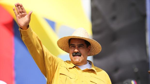 Maduro, ayer, en un acto de campaña en el Estado Apure