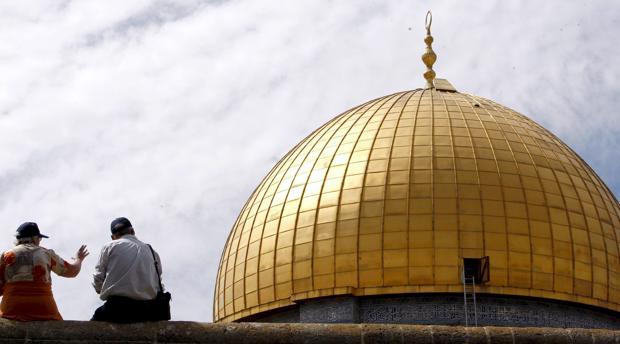 El Domo de la Roca en la Explanada de las Mezquitas de Jerusalén