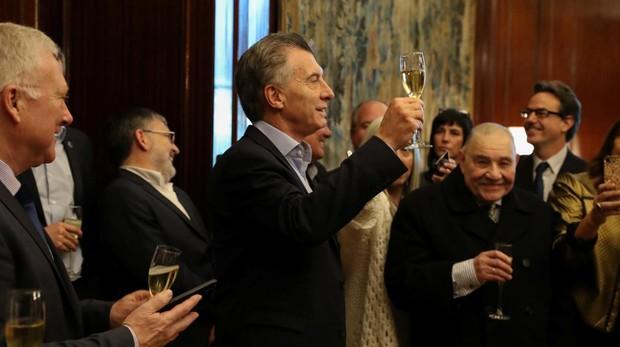 Macri habla a la prensa en la Casa Rosada
