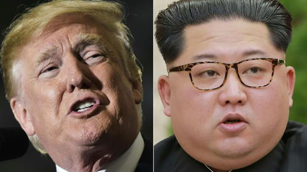 El presidente de Estados Unidos, Donald Trump, y el dictador norcoreano, Kim Jong-un