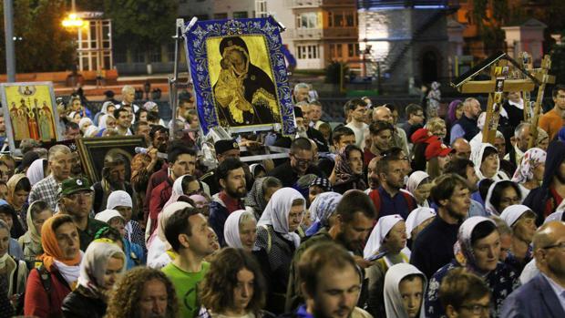 Marcha celebrada este martes en Yakaterimburgo
