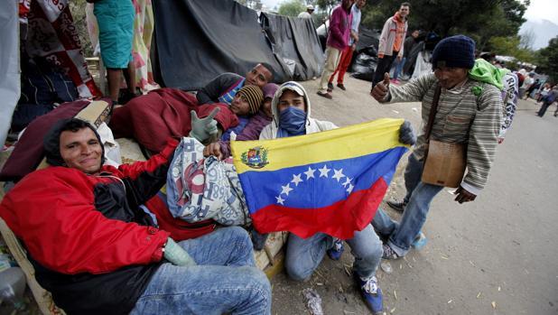 emigrantes venezolanos en la parte norte de Quito (Ecuador)