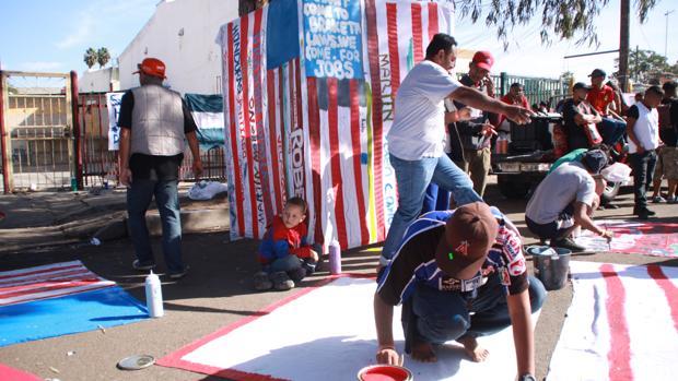 Varios de los centroamericanos concentrados en Tijuana
