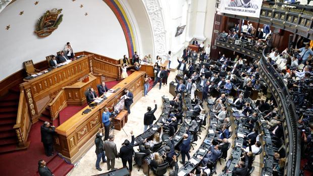 Foto de la Asamblea Nacional de Venezuela ayer durante la sesión