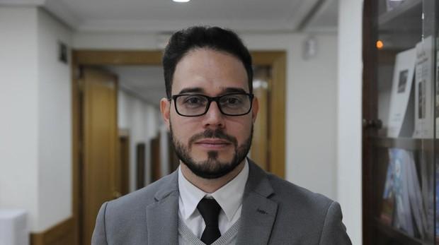 El periodista nicaragüense Edgardo PInell, la semana pasada en la Asociación de la Prensa, en Madrid