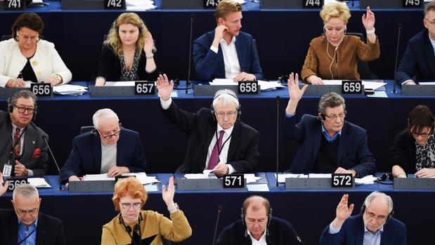 Sesión plenaria en el Parlamento Europeo (Estrasburgo)