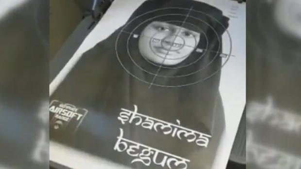 Imagen de Shamina Begum como 'blanco' para pruebas de tiro en Inglaterra