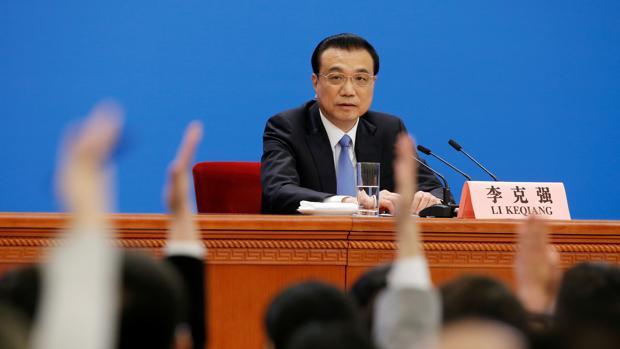 Li Keqiang, durante su conferencia de prensa