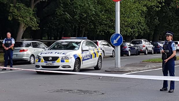 La Policía ha acordonado la zona donde se ha producido el atentado de Nueva Zelanda