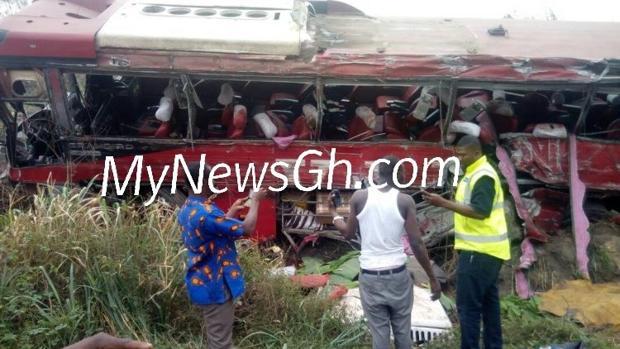Imagen del accidente de Ghana de MyNewsGh.com