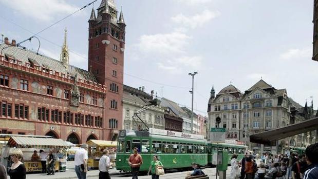 La plaza del Mercado en Basilea