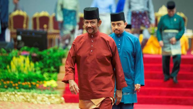 El sultán de Brunéi, en un acto el mes pasado