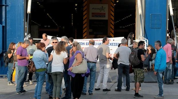 Primera huelga general en Grecia contra el gobierno conservador de Mitsotakis