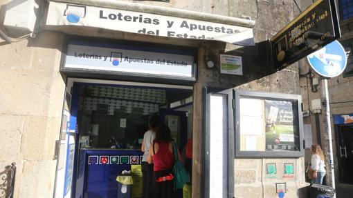 Porta Faxeira, la administración de Lotería de Navidad favorita d elos peregrinos