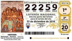 El primer quinto premio de la Lotería de Navidad 2016 cae en Sevilla capital