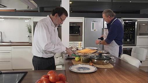 Mariano Rajoy cenando con Bertín Osborne