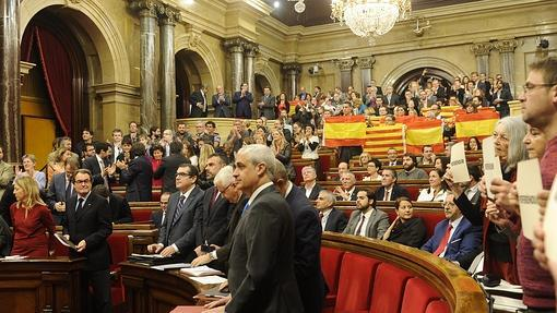 Imagen del Parlamento catalán el 9-N