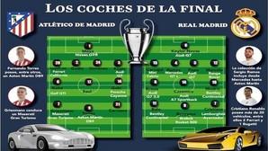 Los coches de los jugadores de la final de la Champions League