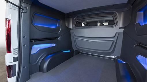 El interior del Opel Vivaro Sport está muy cuidado