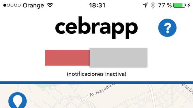 Cebrapp, una alerta para móvil que evita atropellos