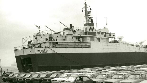 Embarque de los Fiesta tras salir de fábrica en 1976