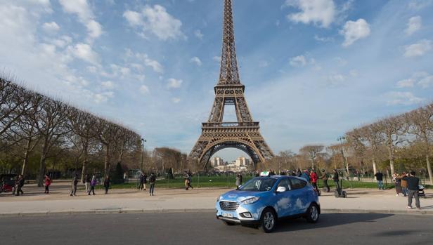 Los taxis de París se pasan a la pila de combustible