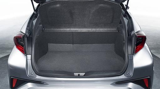 El maletero del Toyota C-HR tiene 370 litros de capacidad